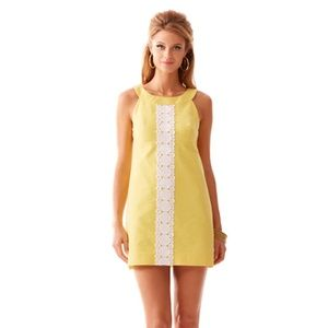 Yellow Lilly Pulitzer Jacqueline Shift Dress Sz 2